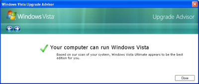 Vista Upgrade Advisor