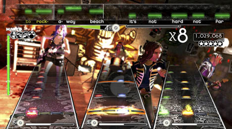 Rock Band gameplay