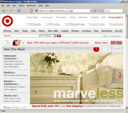 Screenshot Target.com