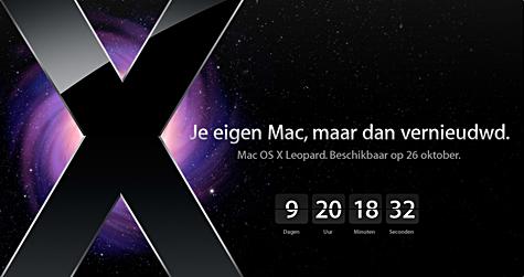 Apple Mac OS X Leopard - countdown
