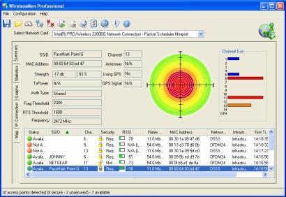 PassMark WirelessMon screenshot (410 pix)