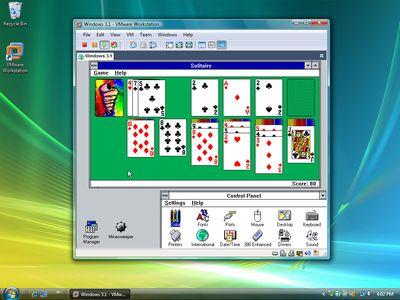 VMware Workstation - Windows 3.1 onder Windows Vista