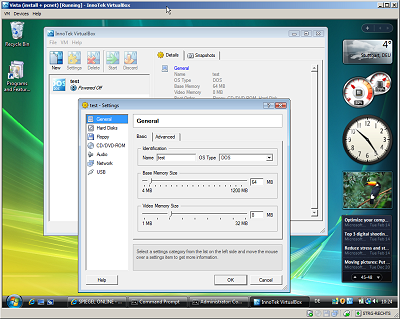 VirtualBox - Windows Vista in Windows XP