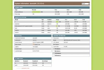 phpSysinfo 3.0-dev op Ubuntu