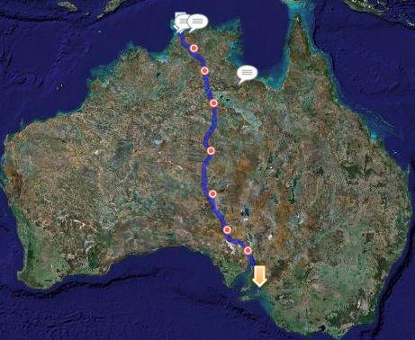Solar Challenge route