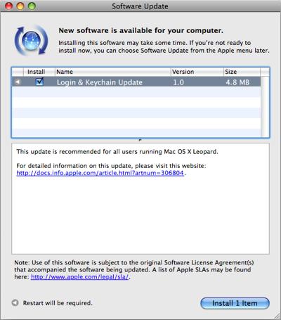 Apple Login & Keychain Update 1.0