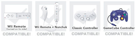 Super Smash Bros. Brawl Wii - controllers