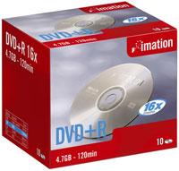 Doosje met Imation dvd+r's