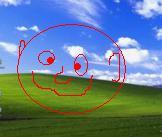 XP-achtergrond met flauw tekeningetje