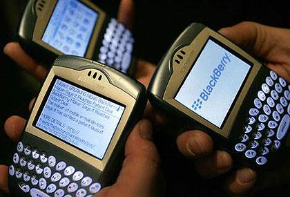 Blackberry-gebruikers
