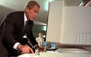 Bush met computer
