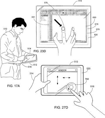 Afbeelding uit een patentaanvraag van Apple