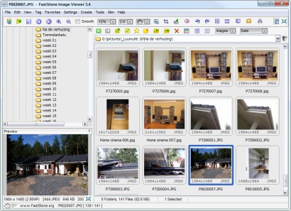 FastStone Image Viewer 3.4 met Vista skin op XP (410 pix)