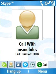 Skype for Pocket PC 2.2.0.18 screenshot