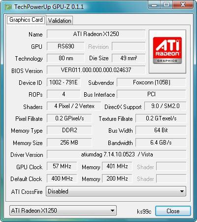 GPU-Z 0.1.1 screenshot