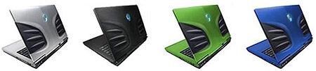Keuzemogelijkheden voor het uiterlijk van de Alienware Area-51 m15x