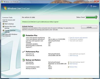 Microsoft Windows Live OneCare