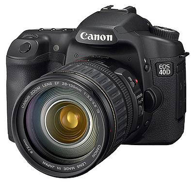 Canon EOS 40D - voorzijde