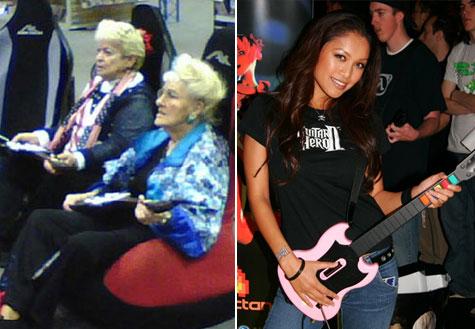 Jong en oud aan de Guitar Hero