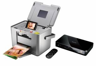 Epson PictureMate PM240-fotoprinter en Philips PhotoViewer