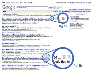Zoekresultaten bij Google met rating-mechanisme