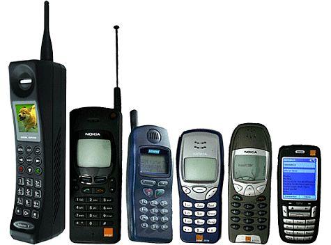 Mobiele telefoons evolutie