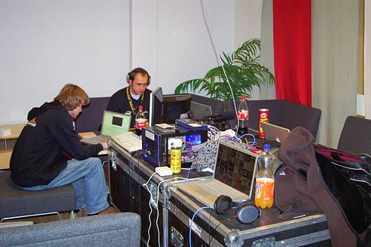 DreamHack 2007 - de nieuwe werkruimte