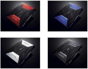 Dell XPS M1730 vier kleuren