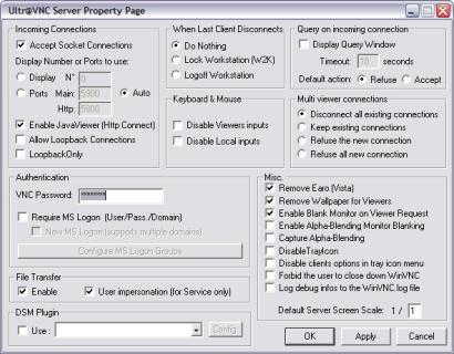 UltraVNC screenshot (410 pix)