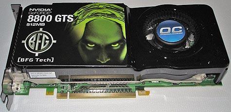 BFGTech GeForce 8800GTS OC 512MB