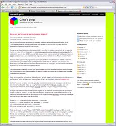 Tweakblog voorbeeld - Crisp's blog