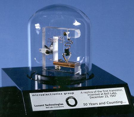 Replica van de eerste transistor