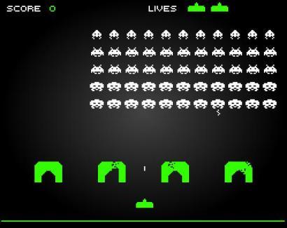 Space invaders (410 pix)