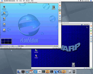 Parallels op OS X