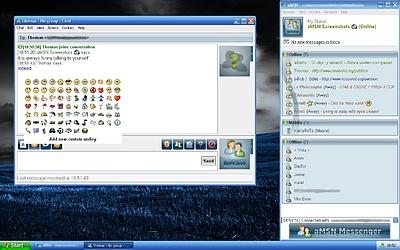 aMSN Messenger - Nieuwe looks voor contactenlijst en chatvenster (klein)