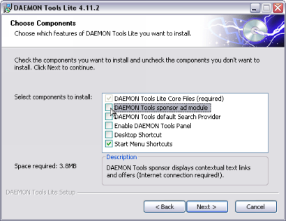 Daemon Tools 4.11.2 Lite screenshot (410 pix)