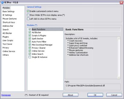 IE7pro 2.0 settings (410 pix)