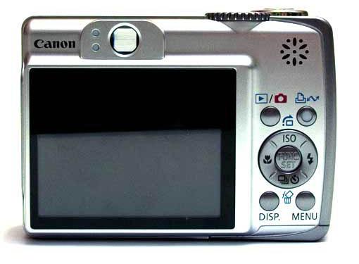 Canon A560 Achterkant