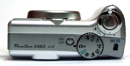 Canon A560 Bovenkant