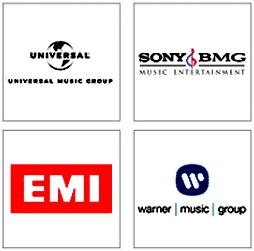 Platenlabels logo's