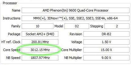 AMD Phenom 9600-cpu Black Edition -- overklokresultaten