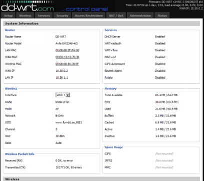 DD-WRT 24 RC3 screenshot (410 pix)