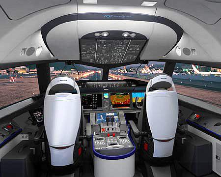 Cockpit van Boeing 787