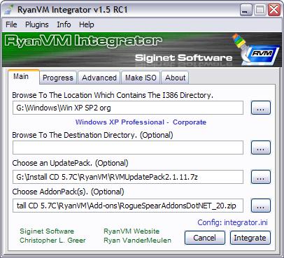 RVM Integrator 1.5 RC1 screenshot