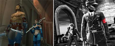 Dragon Age (links, screen uit 2004), Saboteur (rechts)