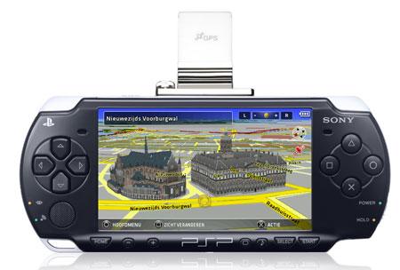 Amsterdam op het scherm van een PSP