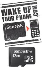 Sandisk: Wake up your phone with 12GB