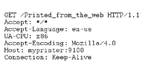 Spam door printertoegang via browser