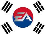 Vlag Zuid Korea met EA logo