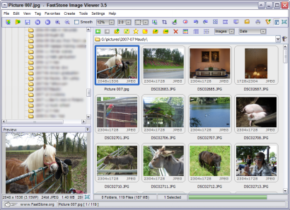 FastStone Image Viewer 3.5 screenshot (410 pix)